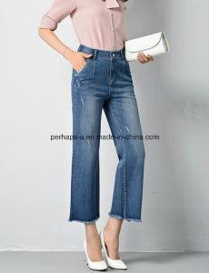 Fashion Straight Denim Ladies Jeans Women Loose Pants pictures & photos