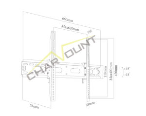 Wholesale Low Price High Quality Customized TV Mount Bracket (CT-PLB-E903N) pictures & photos