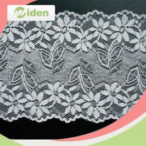 18.5cm Schiffli Hot Sale White Flower Style Textile Lace pictures & photos