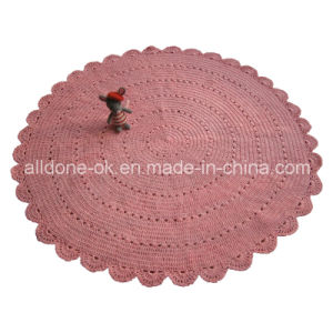 Custom OEM Handmade Knit Crochet Cotton Round Rug Blanket Factory pictures & photos