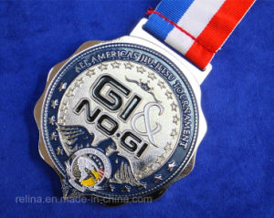 Custom Sport Running Marathon Winner Medal with Ribbon (M-03)
