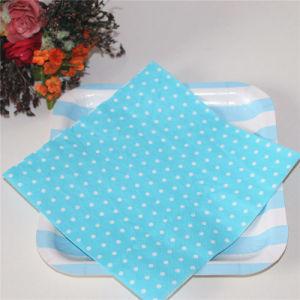 Blue Dots Paper Napkin Home Decoration pictures & photos