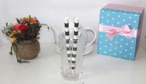 Black Striped Fat Paper Drinking Straw, Paper Straws pictures & photos