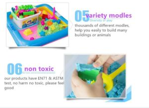 Hot Sale Y Style ASTM En71 Educational Art Gift 2 Blue DIY Modeling Toys for Kids Play Alive Smart Space Magic Silica Sand pictures & photos