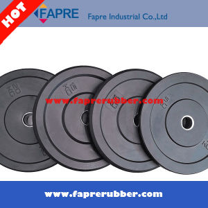 Black Rubber Bumper Plate Free Weight Plate Olympic Bumper Plate pictures & photos
