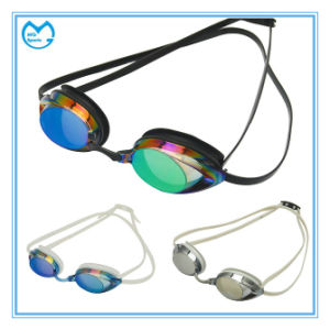 Racing Anti Fog Silicone Swimming Goggles with Adjustable Nose Bridge pictures & photos