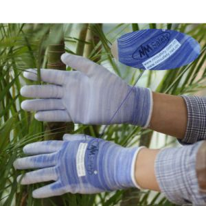 Nmsafety Better Grip PU Coated Hand Protection Work Glove pictures & photos