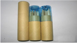 Color Pencil in Paper Tube with Sharpener pictures & photos