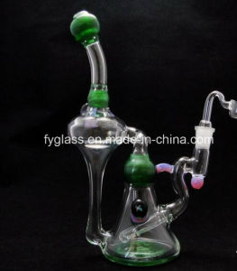 Glss Water Pipe with Green Glass Deluxe Recycler Rig pictures & photos