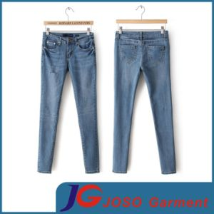 Factory Wholesale Ripped Denim Pants for Ladies (JC1331) pictures & photos