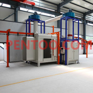 Manual Powder Coating Booth for Car Wheel pictures & photos