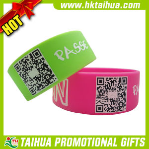 Custom Printed Qr Code Wristbnad for Gift (TH-band103) pictures & photos