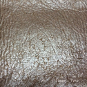 Foil Gold Treatment Suede Fabric for Sofa pictures & photos