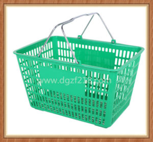 Superior Durable Colorful Plastic Portable Shopping Basket for Supermarket
