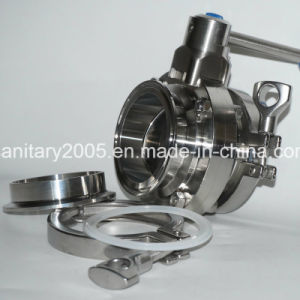 Stainless Steel Sanitary Butterfly Valve with Ss304 Ss316L Material