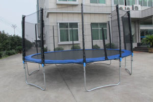 16ft Round Trampoline with Safe Net and Ladder Sx-Ft (E)