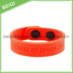 Custom Promotional Silicon Bracelet, Adjustable Silicon Wristband, Promotion Wrist Band pictures & photos