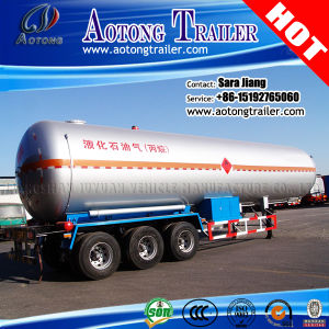 ASME 3-Axle 55cbm LPG Gas Transport Tank Semi Truck Trailer pictures & photos