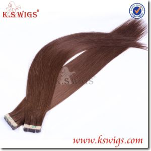 Top Grade Double Tape Hair Brazilian Remy Hair Extension pictures & photos