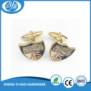 Best Quality Custom Enamel Gold Metal Cufflinks for Men pictures & photos