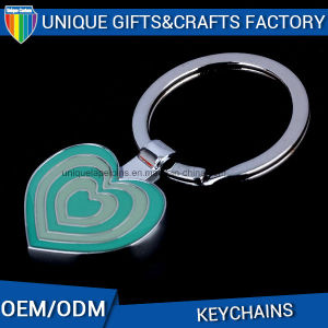 Heart Shape Epoxy Casting Colorful Metal Keychain pictures & photos
