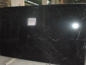 Black Nero Marquina Marble Slabs for Flooring Wall Cladding Countertops pictures & photos
