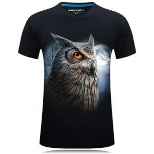 Men′s 100 Cotton Subliming Casual 3D Animal Printed T-Shirt pictures & photos