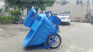 Cargo Three Wheeler Electric Garbage Collecting Tricycle pictures & photos