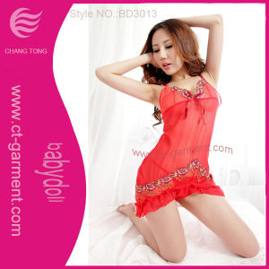 Hot Sexy Night Dress/Sexy Babydoll Lingerie (BD3013) pictures & photos