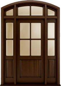Traditional Style Solid Hardwood Door Designs pictures & photos