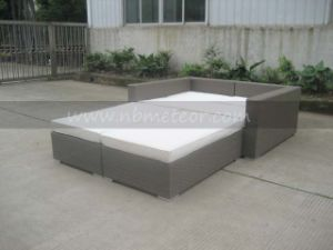 Mtc-137 Outdoor Rattan Sofa Bed Wicker Furniture/SGS pictures & photos