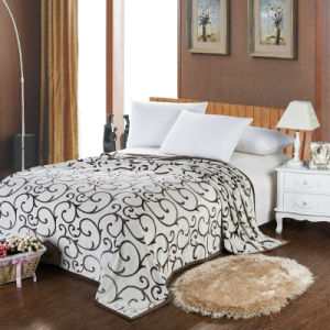 Embossing Print Super Soft Flannel Blanket (HZS---0032)
