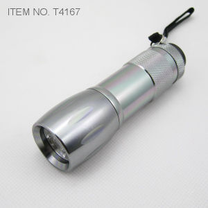 9 LED Flashlight with Sos Flash (T4167) pictures & photos