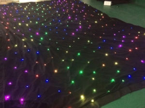 RGB LED Star Effect Stage Lighting Wedding Backdrop Curtains pictures & photos