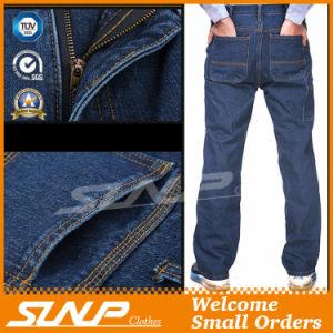 Men′s Long Washed Denim Workwear Jeans