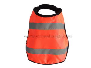 Hi-Visibility Material with Reflective Strips Dog Coat Orange