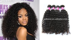 Kinky Curl Brazilian Virgin Human Hair Extension/ Hair Weave pictures & photos