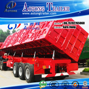 60tons Semi Dump Trailers /Rear Hydraulic Dump Semi Trailer pictures & photos