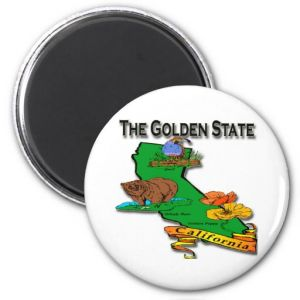 California The Golden State Bear Quail Poppy Refrigerator Magnets pictures & photos