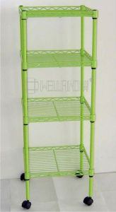 Adjustable Epoxy Metal Bath Rack/Corner Rack with Wheels (CJ-C1037E) pictures & photos
