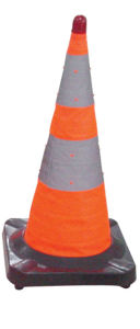 Rubber Durable Traffic Safety Cone Expandable Cone pictures & photos