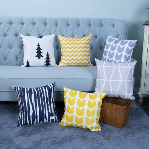 Digital Print Decorative Cushion/Pillow with Geometric Pattern (MX-39) pictures & photos