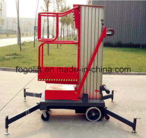 Double Single Mast Type Manual Man Lift Price pictures & photos