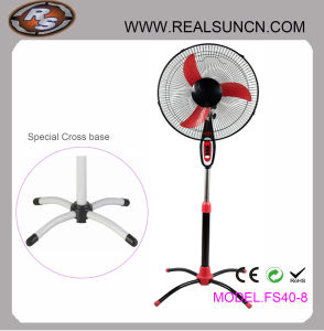Electrical Stand Fan with Ox Blade-New Design Base pictures & photos