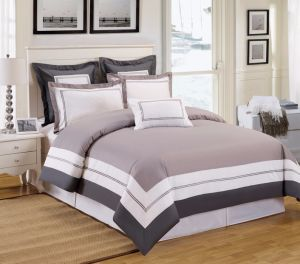 Grey Park 4 Pieces Full Cotton Simple Style Bedding Sets pictures & photos