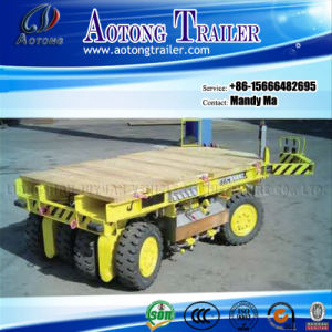 Draw Arm 4 Axles Flatbed Port Trailer, Full Trailer pictures & photos
