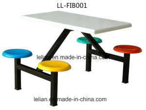 School Canteen Dining Fiberglass Table and Chair Set pictures & photos