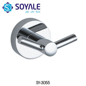 Zinc Alloy Material Robe Hook with Chrome Finishing Sy-3055