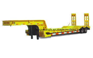 China Two Axles Low Bed Semi Trailer