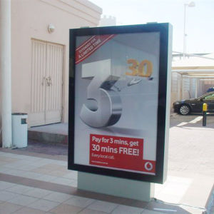 Double Side Light Box Signage with Base pictures & photos